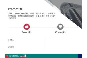 時尚企業版 Procon分析 PPT下載